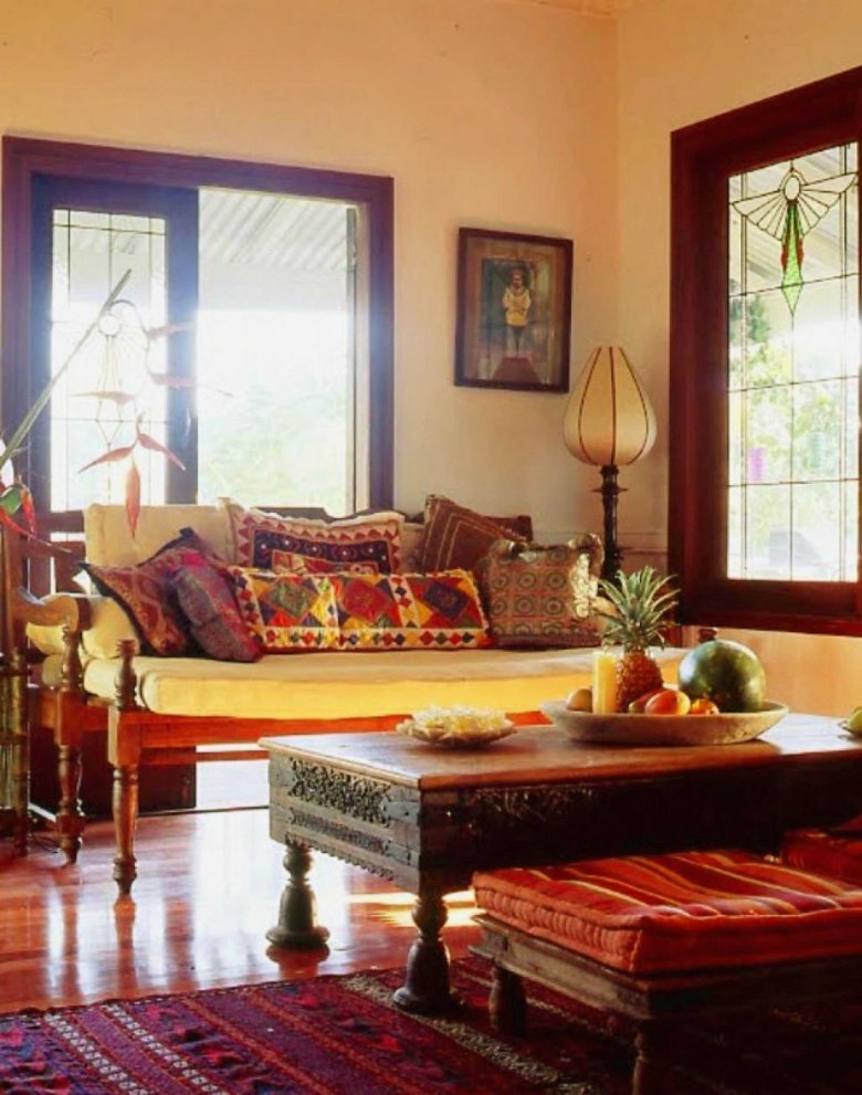 Handcrafted Furniture in Indian Style Living Room