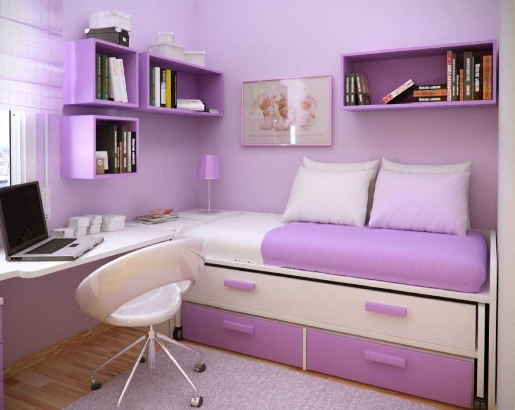 14+ Beautiful Girls Bedroom Ideas for Small Rooms (Teenage ... on Teenage Bedroom Ideas For Small Rooms  id=61729