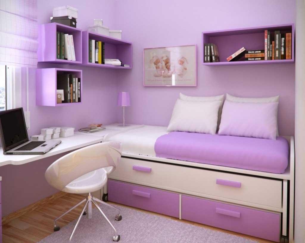 14+ Beautiful Girls Bedroom Ideas for Small Rooms (Teenage ... on Small Teenage Bedroom  id=20604