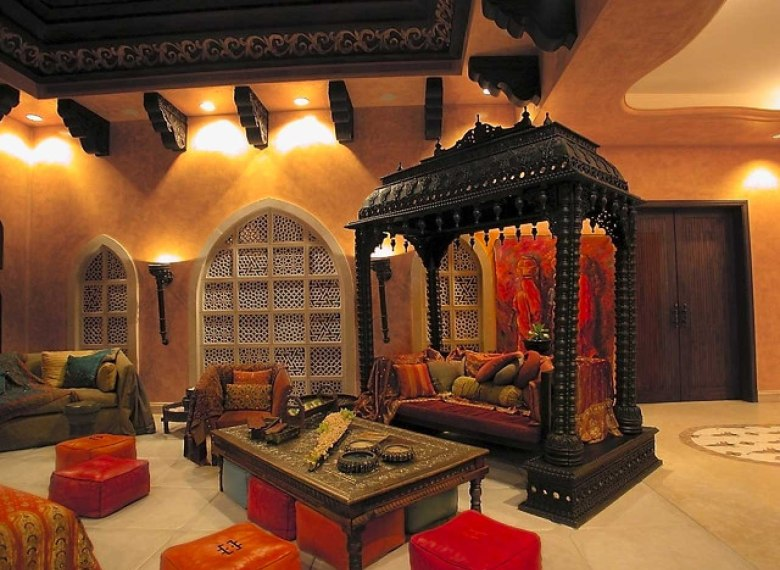 Traditional and Ethnical Indian Living Room