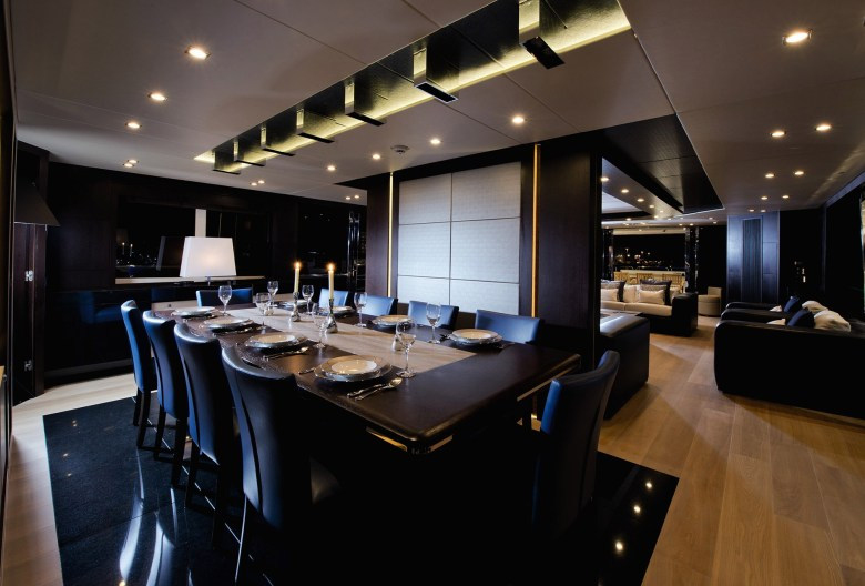 Bold and Luxurious Black Dining Room