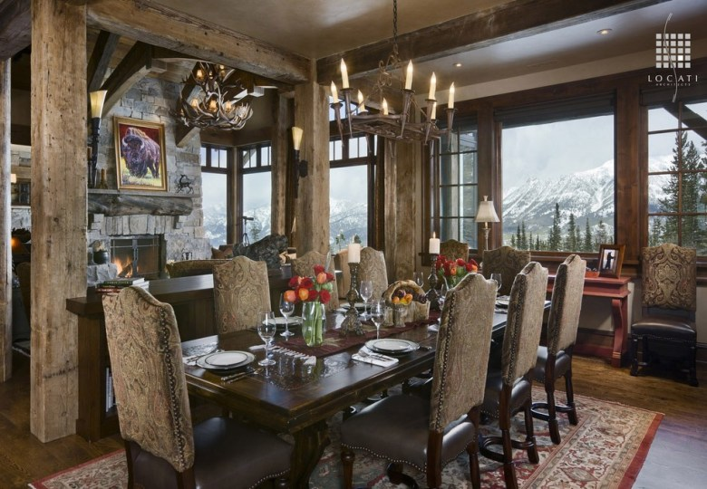 Rustic yet Luxurious Dining Room