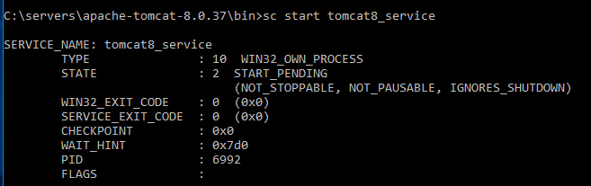Installing Apache Tomcat 8 as Windows Service