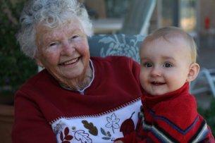 grandma and corbin