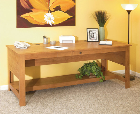 O'Sullivan 11796 Woodbridge Kayak Birch Desk