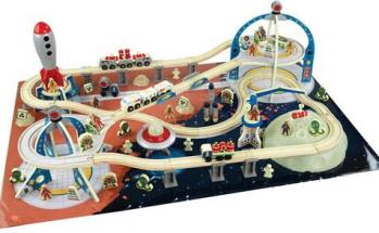 KidKraft 17471 Glow in The Dark Space Train Station