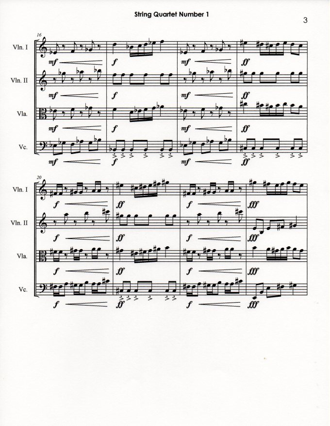 String Quartet Number 1 p3