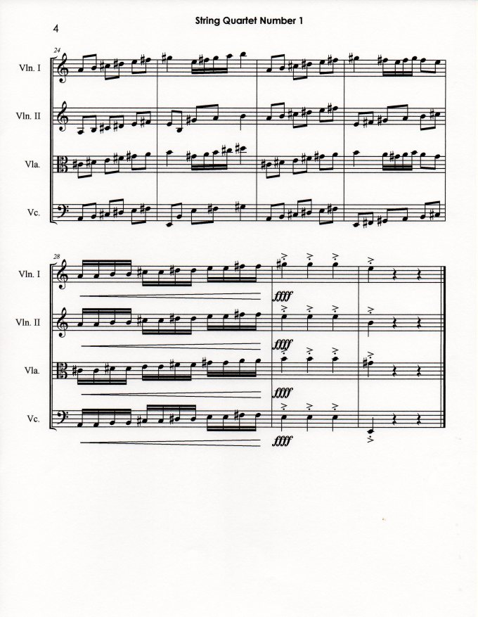 String Quartet Number 1 p4