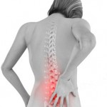 Patient feeling low back pain