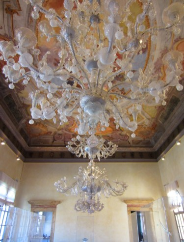Typical Murano blown glass chandelier