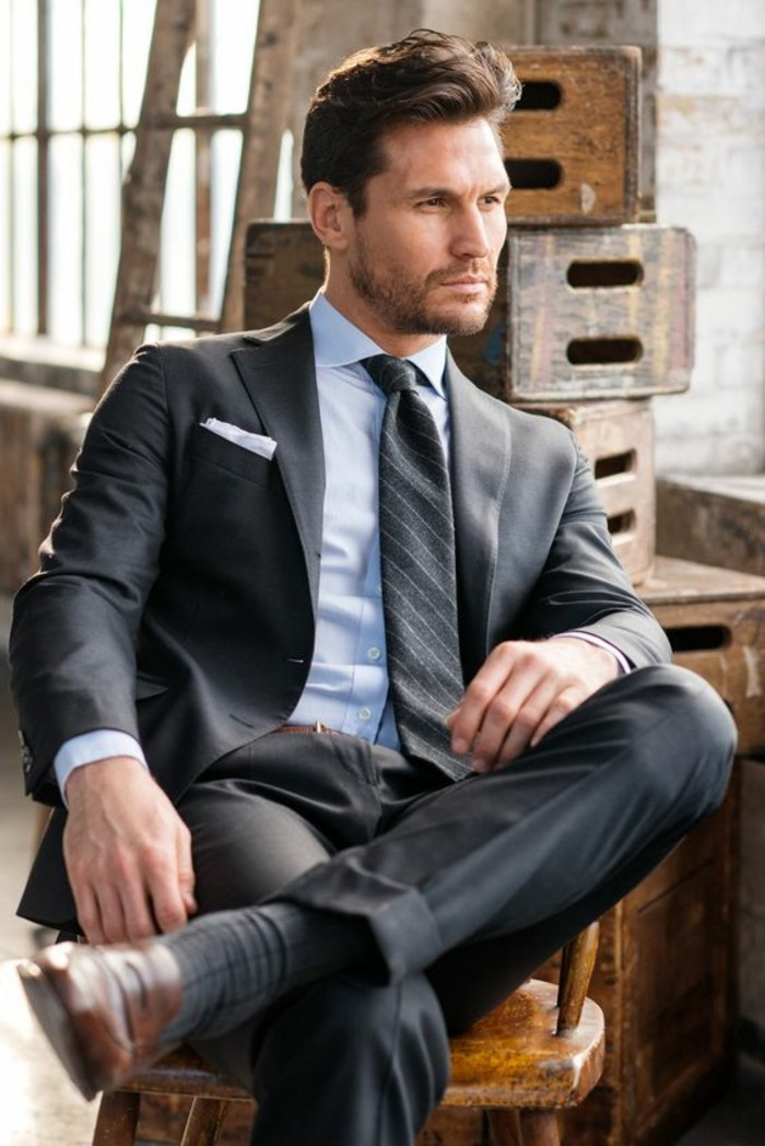 Suits Tie Shoes Shirt Brown Grey