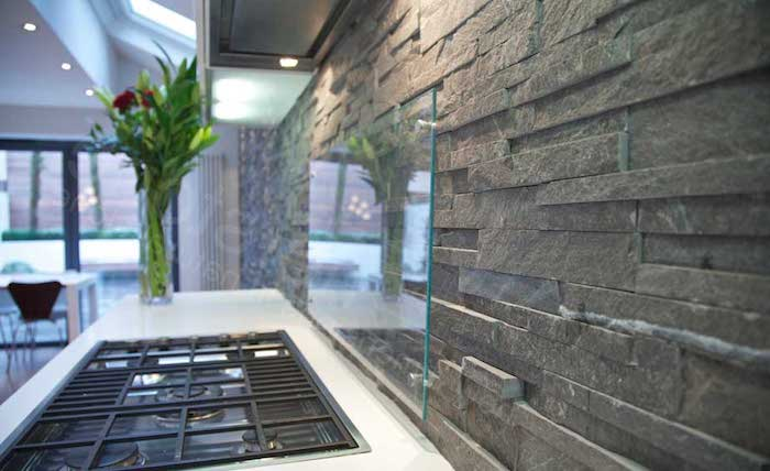 Grey And White Kitchen Tiles