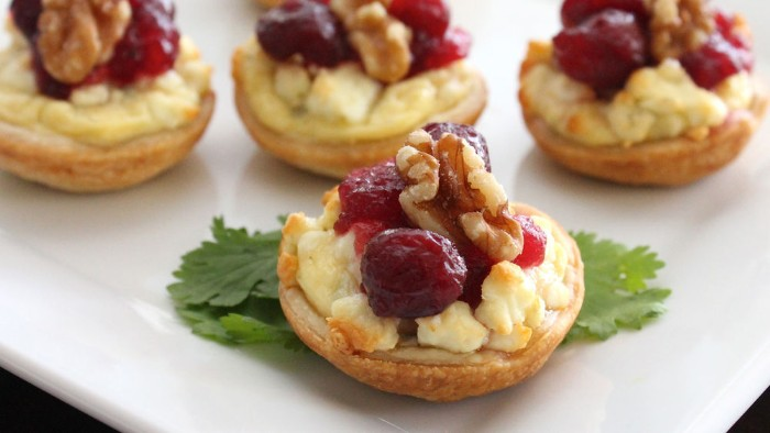 toasted appetizer bites, with grilled cheese, cranberries and walnuts, hors d oeuvres recipes, for thanksgiving or christmas
