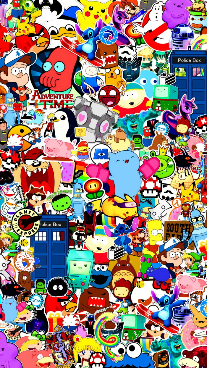 adventure time, pop culture characters, cool iphone wallpapers, colourful wallpaper