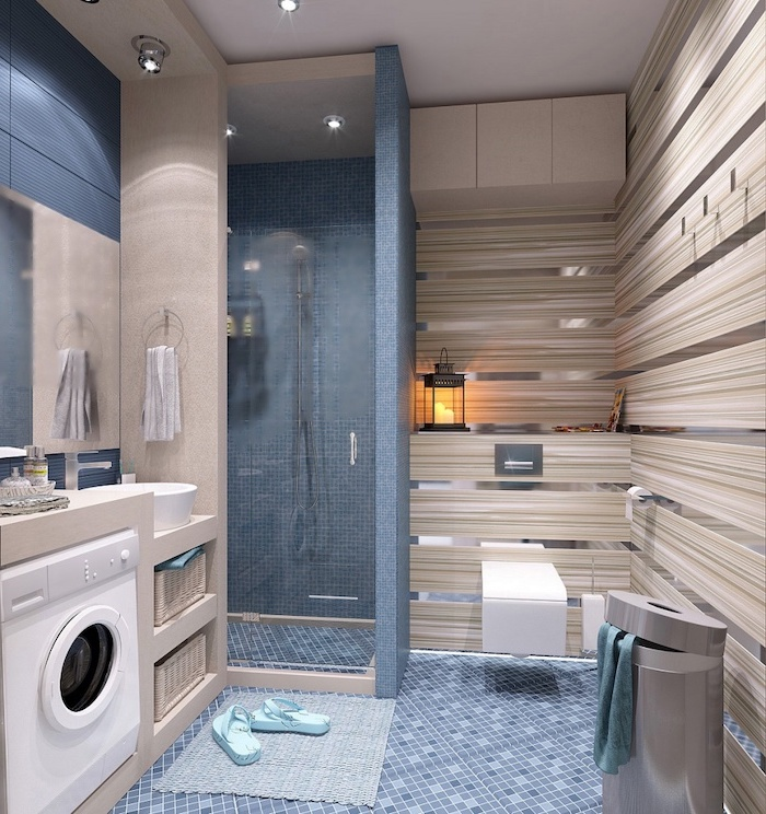 1001 + ideas for beautiful bathroom designs for small spaces on Small Space Small Bathroom Ideas With Washing Machine id=91391