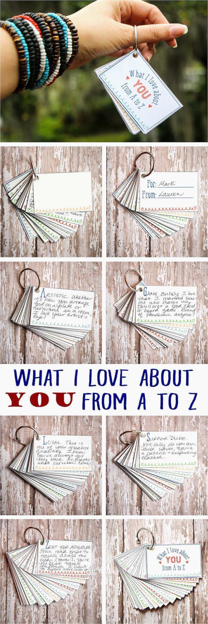 what i love about you, cards with special messages, thoughtful gifts for boyfriend