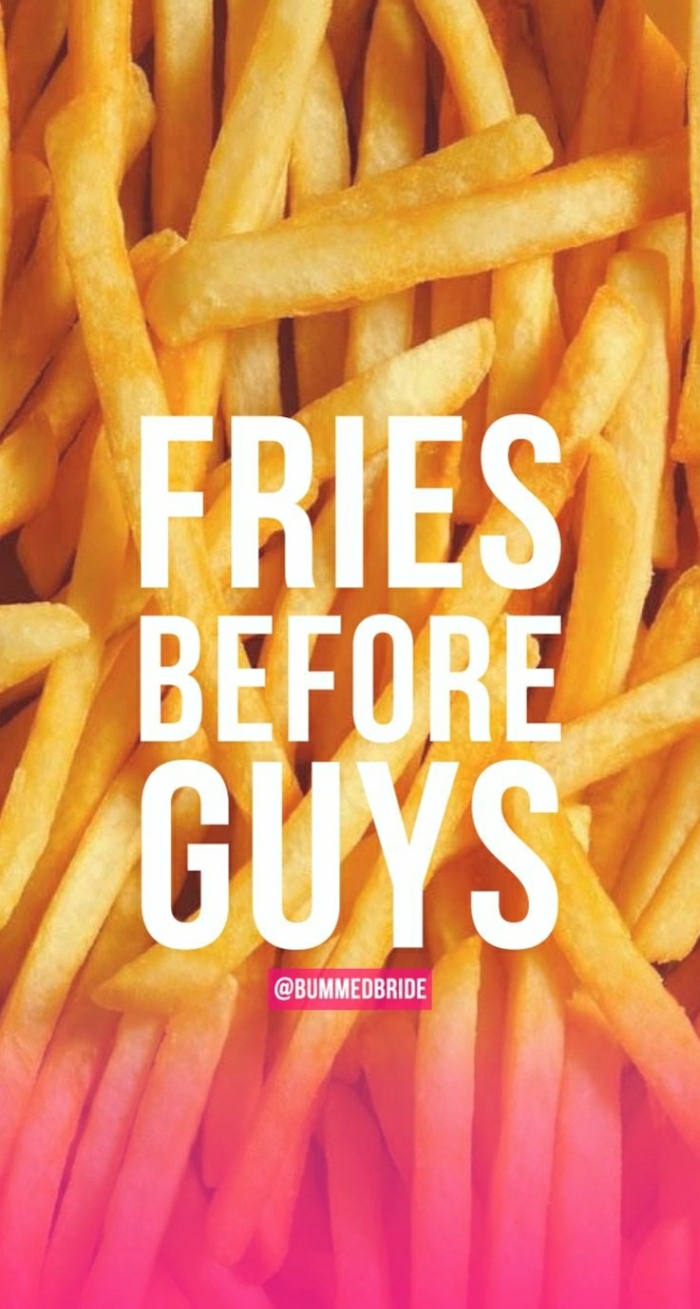 french fries, cute iphone backgrounds, fries before guys