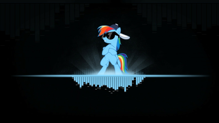 my little pony character, black sunglasses, pretty iphone wallpaper, black background