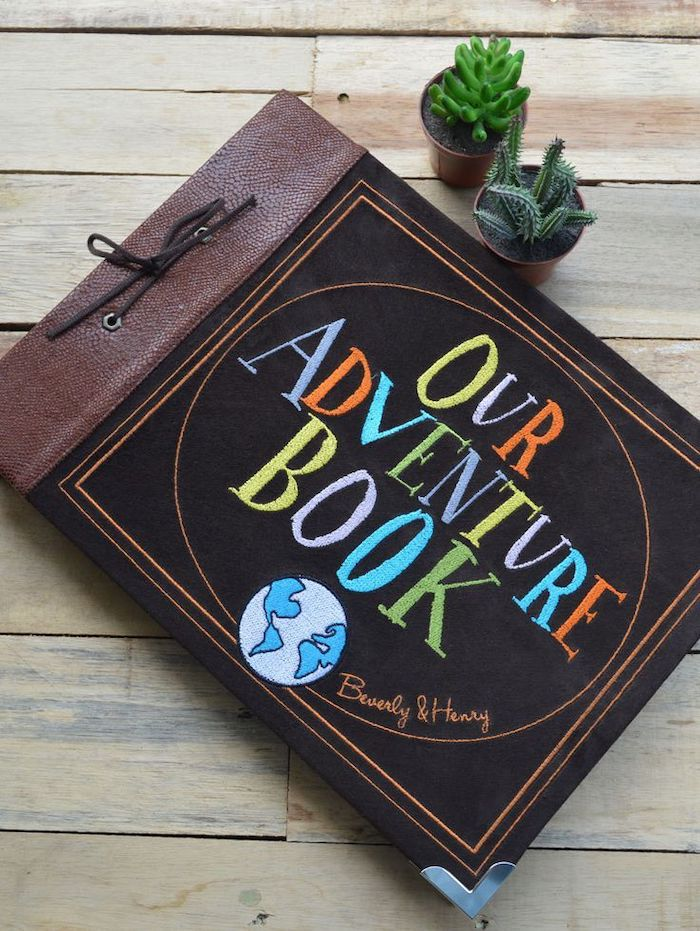 our adventure book, leather scrapbook, special messages and photos, creative valentine's day gifts for boyfriend
