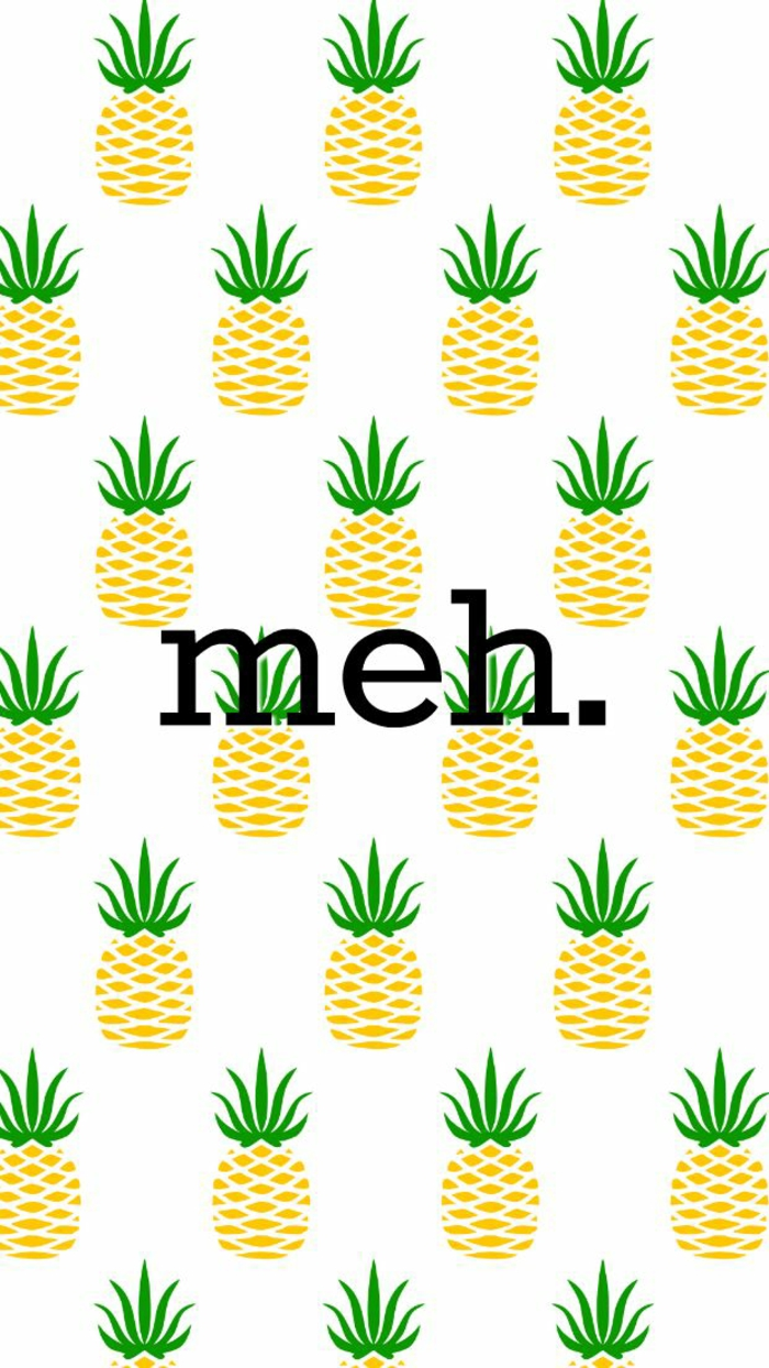 lots of pineapples, meh sign, best iphone backgrounds, white background