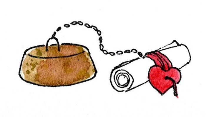 brown cork, message written on a piece of paper, red heart attached with a chain, customised gifts for boyfriend