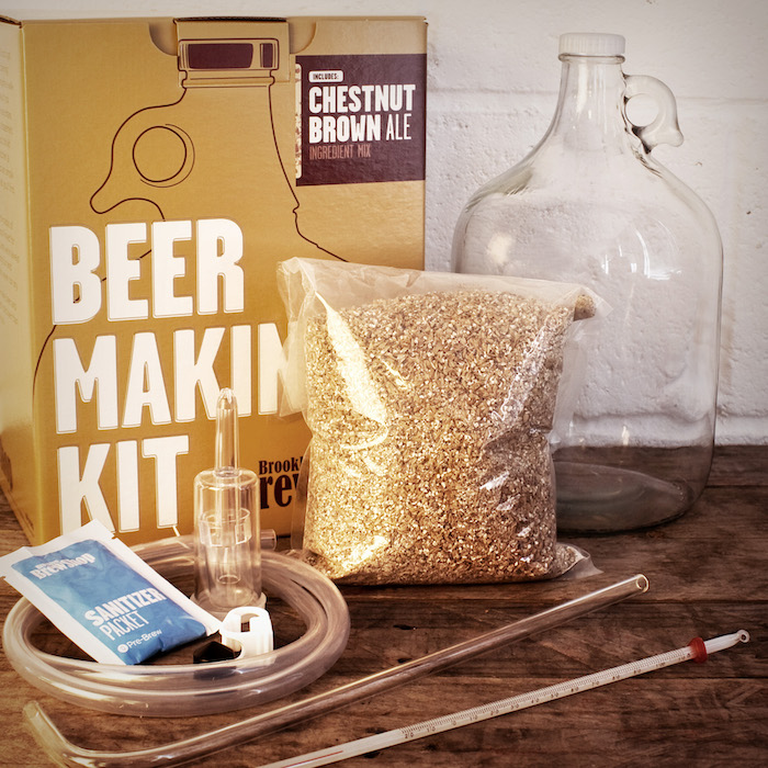 beer making kit, special ingredients, brown box, unique gifts for boyfriend