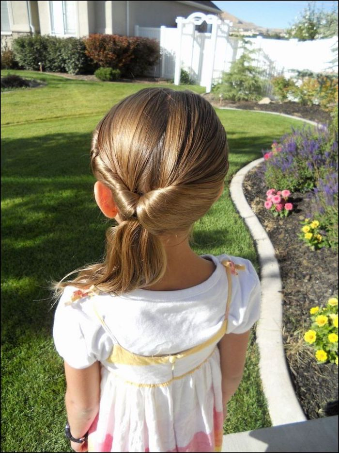 garden with flowers, cute easy hairstyles for long hair, long blonde hair in a ponytail