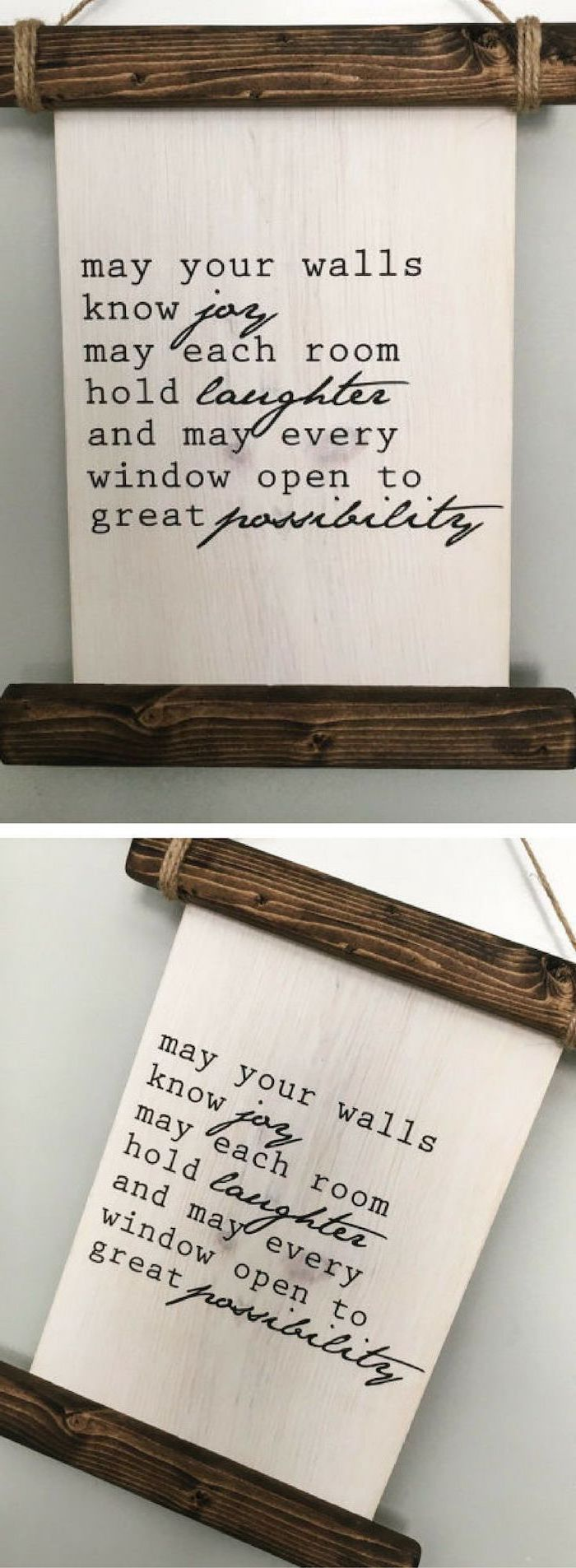 wooden board, good wishes, written on it, personalized housewarming gifts