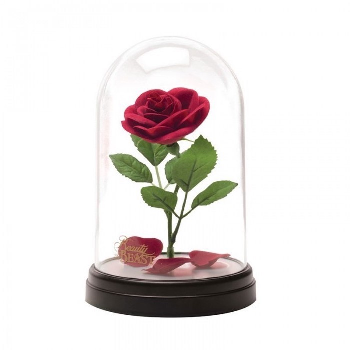 rose lamp, inspired by the beauty and the beast, housewarming gift ideas for couple