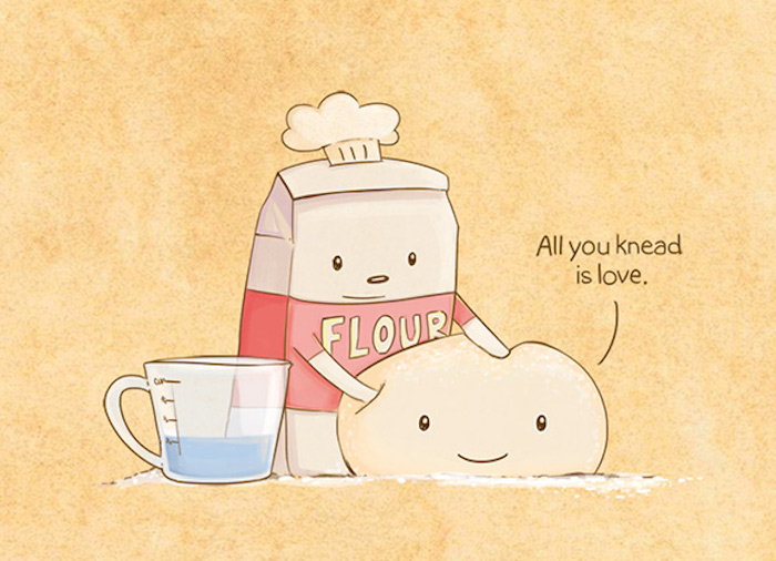 all you knead is love, bag of flour, wallpaper tumblr, jug of water