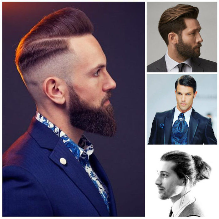 side by side photos, best hairstyle for men, different haircuts