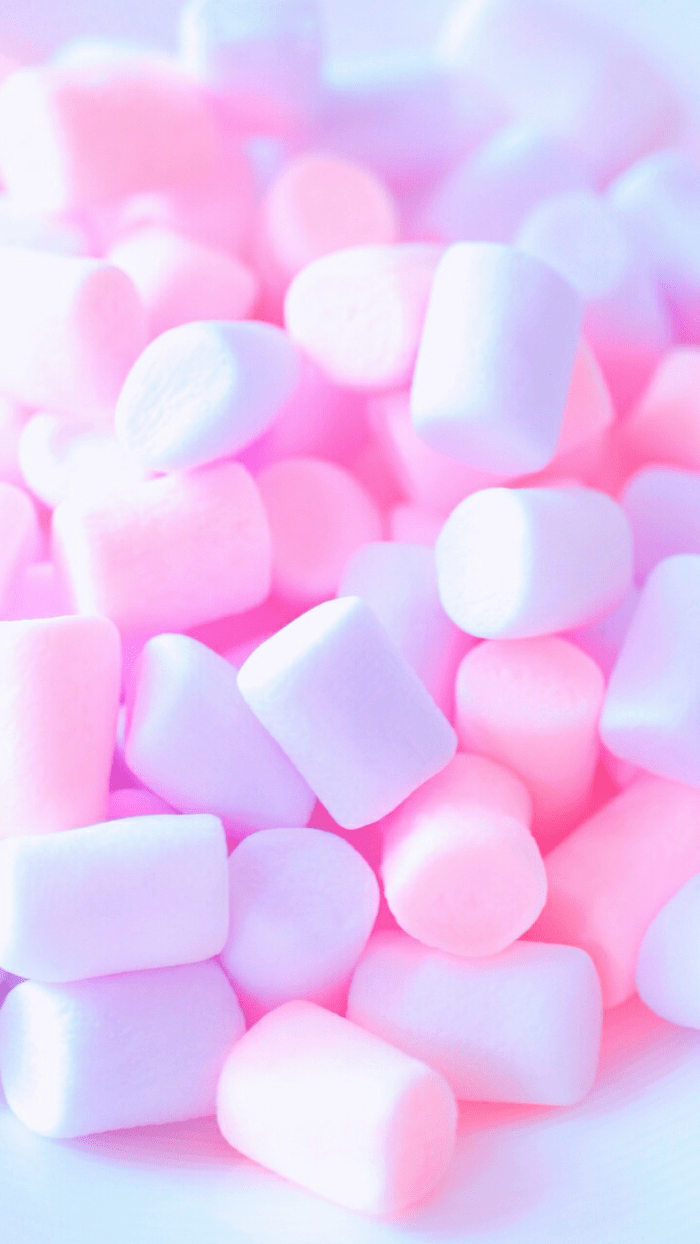 pink and purple marshmallows, cute iphone backgrounds