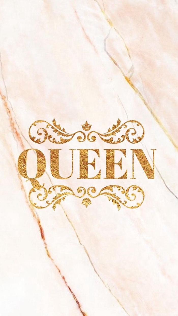 pretty iphone wallpaper, gold queen, orange marble background