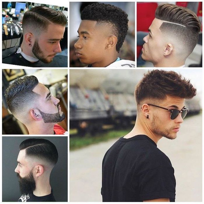 different hairstyles, side by side photos, cool haircuts for boys, short hairstyles