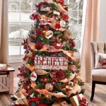 White Christmas Tree With Red And Gold Ornaments Cheaper Than Retail Price Buy Clothing Accessories And Lifestyle Products For Women Men