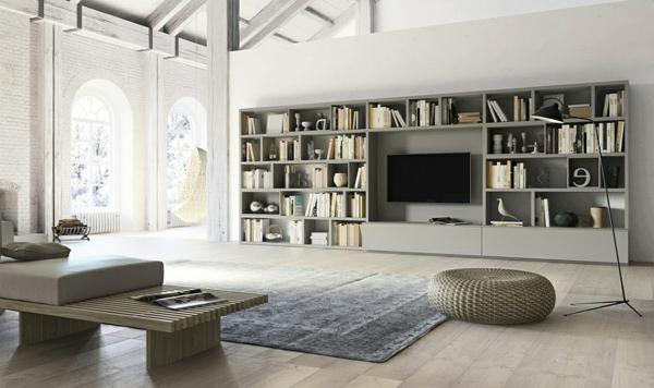 creez un beau style de votre salle de sejour avec un meuble tv laque blanc