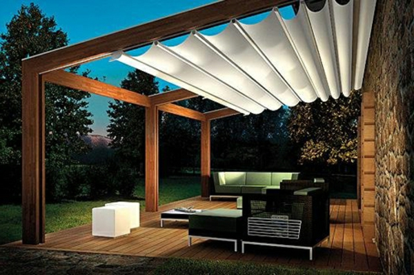 cover idea patio design Une pergola bois - quelques idées inspirantes en photos