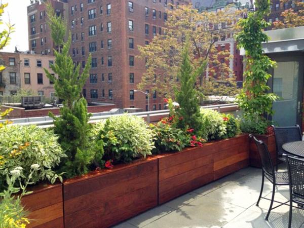 terrasse avec un sol du bois archzine