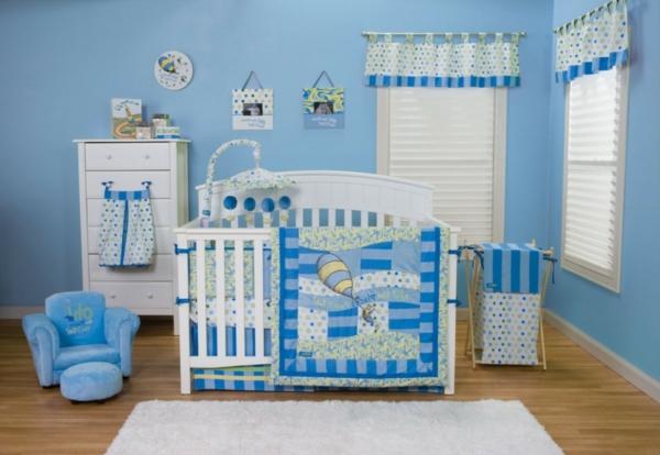 le design de la chambre de bebe moderne