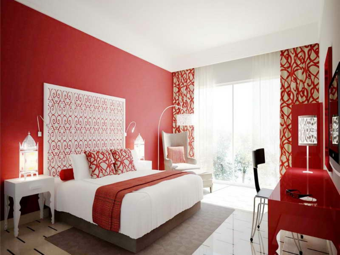 Peinture Rouge Chambre A Coucher | Kapokto