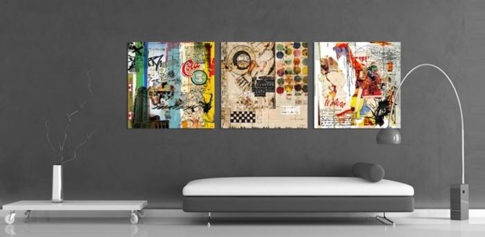 Design Dintrieur Styl Avec Le Tableau Triptyque