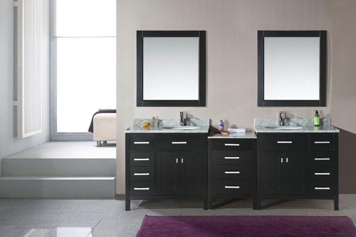 meuble double vasque 50 idees amenagement salle de bain