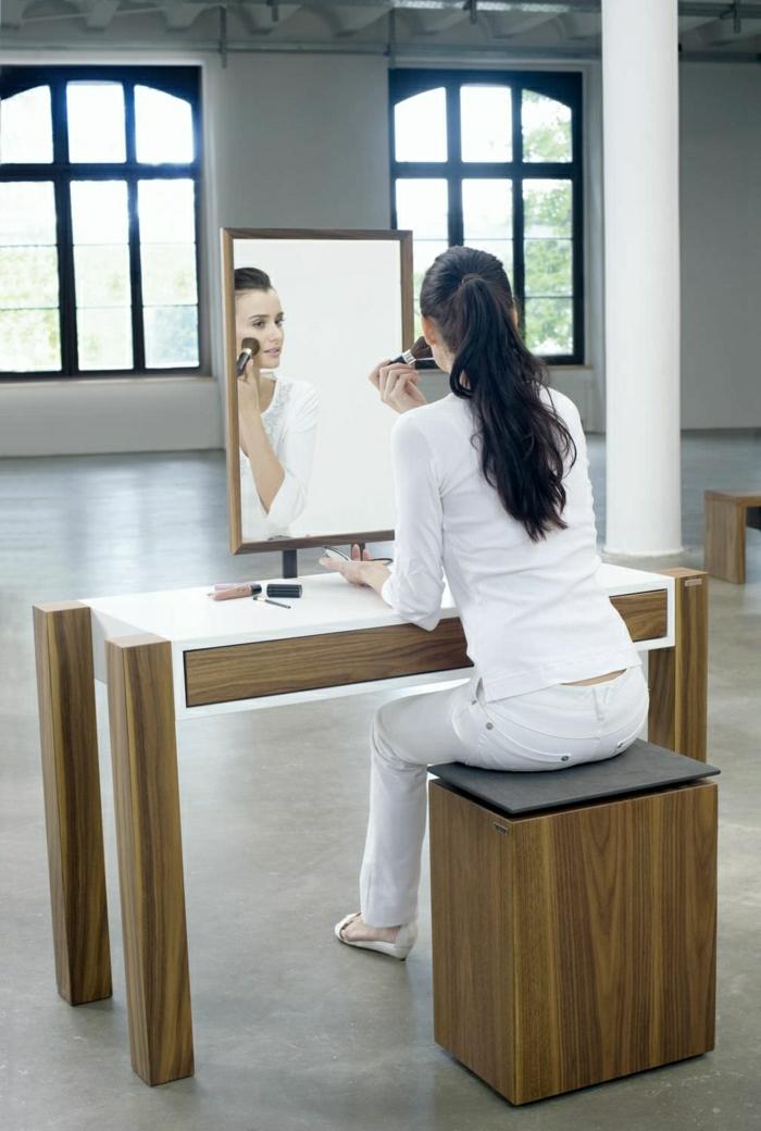 jolie coiffeuse avec miroir 40 idees