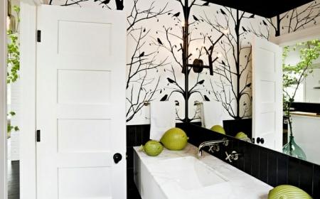 papier peint pour salle de bain 45