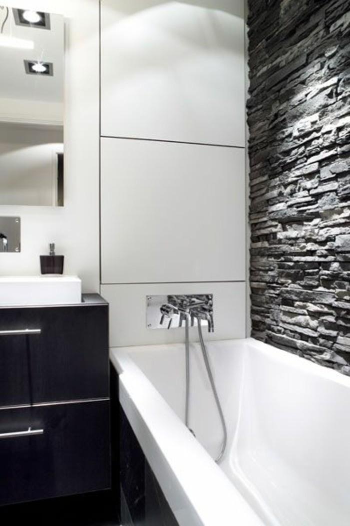 Meuble Salle De Bain Design Noir Et Blanc Novocom Top