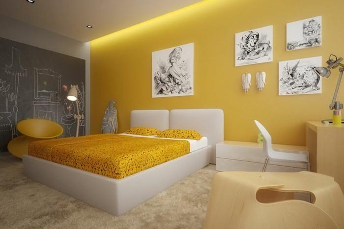 Peinture Chambre Adulte Orange   Kapokto