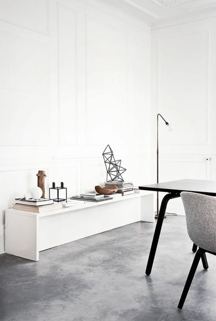 Sol Beton Blanc Finest Dcoration Duintrieur Duune Cuisine