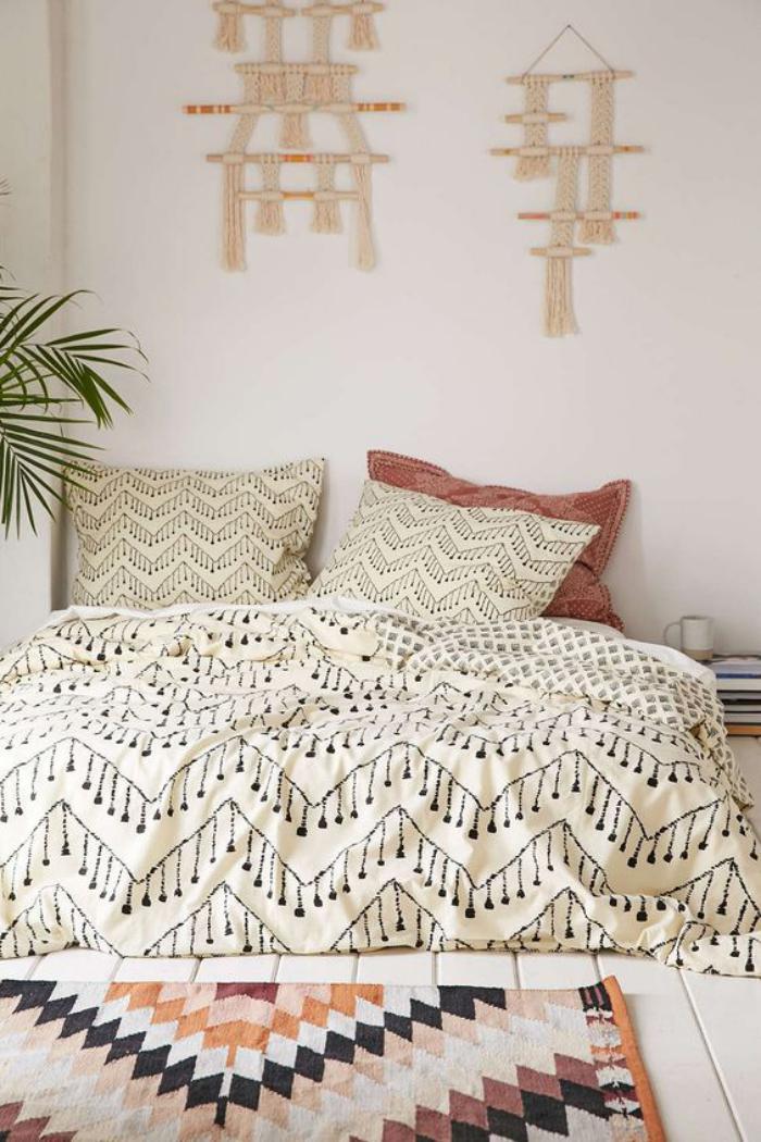 parures de lit originales decoration facile pour la chambre a coucher
