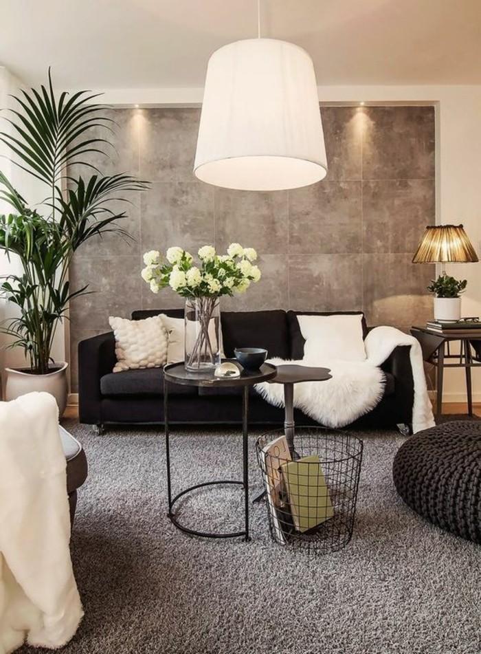 Idee Deco Salon Taupe Et Blanc - Moble.top