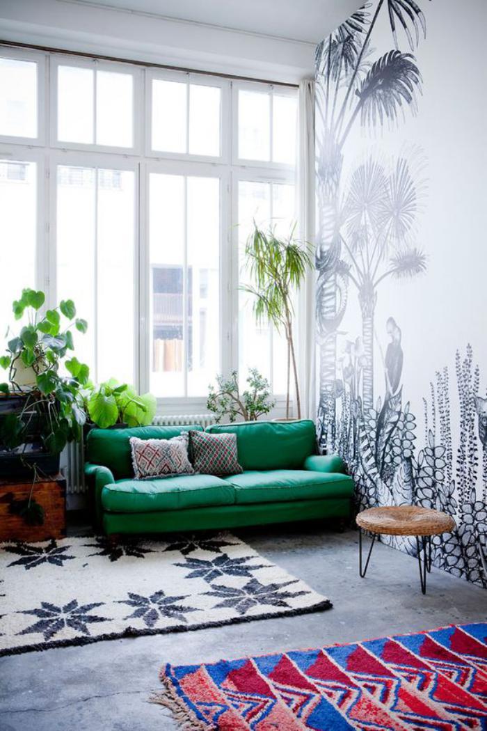 Mettez Un Canap Vert Et Personnalisez Lintrieur